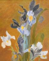 Still Life Oil Painting of Irises (3 of 6)