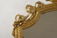 19th Century Gilt Overmantle Mirror with Putto Cresting (6 of 12)