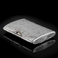 Antique Imperial Russian Solid Silver Samorodok Snuff Box Case - Rudolf Veyde c.1900 рудольф Вейде (7 of 15)