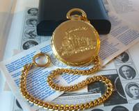 Vintage Pocket Watch 1970s Railroad 12ct Gold Plated Swiss & West Germany Nos (9 of 12)