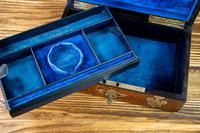 Burr Walnut & Brass Jewellery Box 1860 (11 of 14)