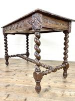 Antique 19th Century Carved Oak Table (8 of 11)