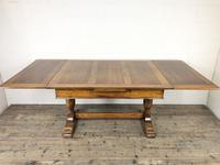Early 20th Century Oak Draw Leaf Table (9 of 17)