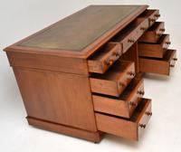 Antique Victorian Mahogany  Leather Top Pedestal Desk (11 of 11)
