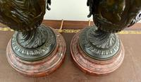 Magnificent Pair of Heavy Bronze Lamps (6 of 11)
