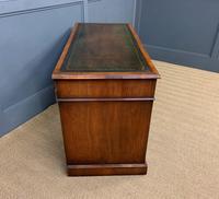 Edwardian Burr Walnut Pedestal Desk (5 of 14)