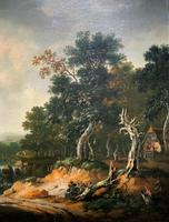 Exceptional Large 1700s Old Master Giltwood Landscape Oil on Canvas Painting (12 of 17)