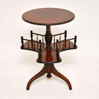 Antique Victorian Mahogany Occasional Table Bookstand (2 of 7)