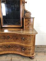 Antique 19th Century Concave Mahogany Dressing Table (14 of 21)