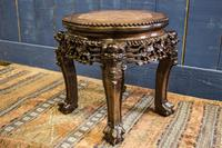 19th Century Chinese Rosewood & Marble Jardinière Stand / Lamp Table (2 of 11)
