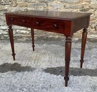 Antique Victorian Mahogany Two Drawer Side Table (7 of 20)