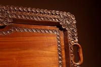 Two Colonial Very Fine Carved Wooden Trays (4 of 13)