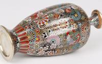 Oriental, Chinese / Japanese Exceptional Silver Metal Cloisonne Vase (10 of 25)