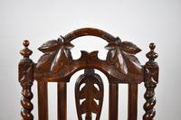 Pair of 1910 Oak Barley Twist Armchairs (8 of 15)
