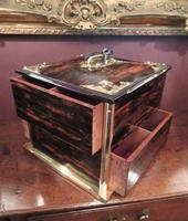 Superb Antique Coromandel & Brass Mounted Box