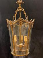 Pair of Decorative Triple Light French Antique Lanterns (2 of 9)