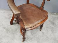 William IV Mahogany and Brown Leather Office Chair (5 of 7)