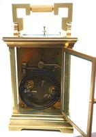 Superb Large Antique French 8-day Striking Carriage Repeat Feature Clock c.1880 (13 of 13)