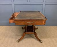 Fine Regency Inlaid Mahogany Library Table (7 of 16)