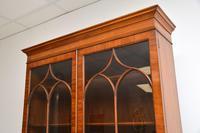Antique Inlaid Mahogany Secretaire Bureau Bookcase (7 of 11)