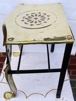 Antique English Victorian Brass & Steel Footman (4 of 6)
