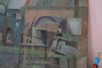 Swedish Modernist View of Buildings - Oil on Board (3 of 4)