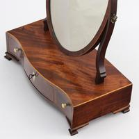 Georgian Serpentine Fronted Oval Mahogany Dressing Table Mirror c.1790 (5 of 10)