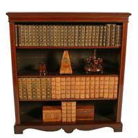 Inlaid Mahogany Open Bookshelves (2 of 7)