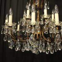 Italian 18 Light Gilded Brass Antique Chandelier (2 of 10)