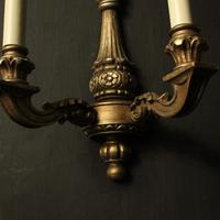 French Set of 4 Gilded Twin Arm Wall Lights (4 of 10)