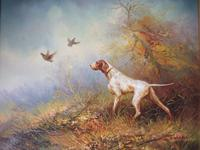 Eugene Kingman Oil on Canvas - Hunting Dog with Gamebirds (2 of 3)