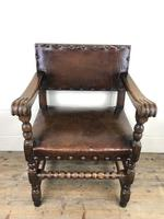 Set of Six Oak and Leather Dining Chairs (15 of 23)