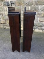 Pair of Antique Oak Open Bookcases (8 of 10)