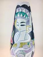 Fabulous Marian Zawadzki for Tilgmans Hand Painted Swedish Ceramic Vase c.1960s (5 of 13)