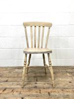 Set of Four Antique Beech & Elm Farmhouse Dining Chairs (6 of 8)