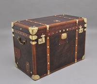 Early 20th Century Leather Bound ex Army Trunk (11 of 11)
