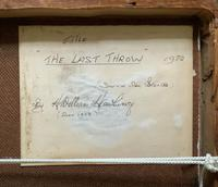 'The Last Throw' Original Signed 1972 Vintage Seascape Oil On Board Painting' (13 of 13)