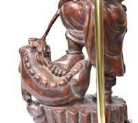 Set Hand Carved Chinese Buddha Lamps Antique Lights Figurines 1880 (16 of 16)