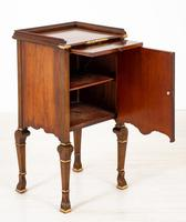 Walnut Queen Anne Style Bedside Cabinet c.1920 (4 of 14)