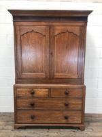 Antique 19th Century Welsh Oak Press Cupboard (2 of 14)