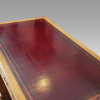 Victorian Oak Maple & co Pedestal Desk (11 of 11)