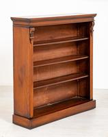 Victorian Mahogany Open Bookcase with Adjustable Shelves (5 of 8)