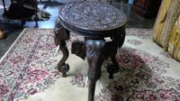 Antique Indian Carved Teak Elephant Table (3 of 6)