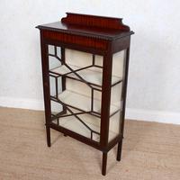 Glazed Bookcase Edwardian Astragal Display Cabinet Mahogany (5 of 11)