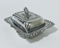 Antique Solid Sterling Silver Butter Dish & Cover (5 of 12)