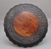 19th Century Burmese Carved Centre Table (5 of 5)