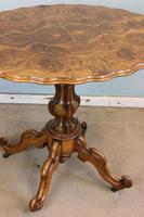 Antique Burr Walnut Shaped Occasional Table (5 of 9)