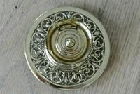 Fine William Tonks & Sons Aesthetic Movement Castle Top Brass Inkwell c.1895 (4 of 6)