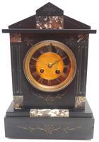 Architectural Slate Mantel Clock – Gilt Marble 8-day Striking Mantle Clock
