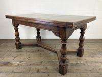 Extending Oak Draw Leaf Refectory Dining Table (15 of 17)